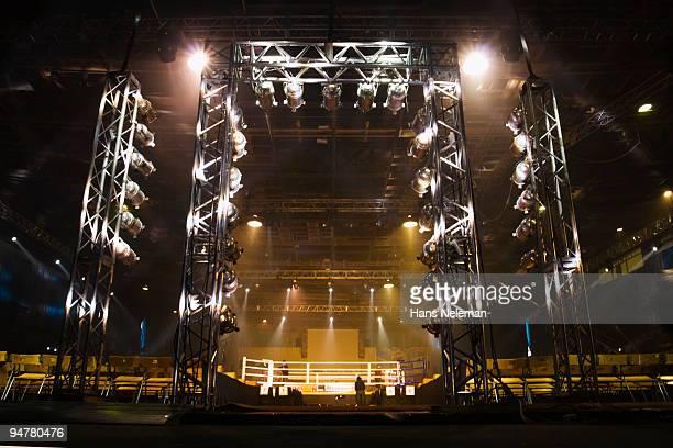 Empty boxing ring, Palace Of Sports, Zaporizhia, Kiev, Ukraine
