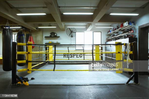 empty boxing ring - boxing ring stock pictures, royalty-free photos & images
