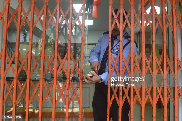 Empty branch of Syndicate Bank at Borivali due to employees strike on January 8, 2019 in Mumbai, India. As many as 10 central trade unions except the...