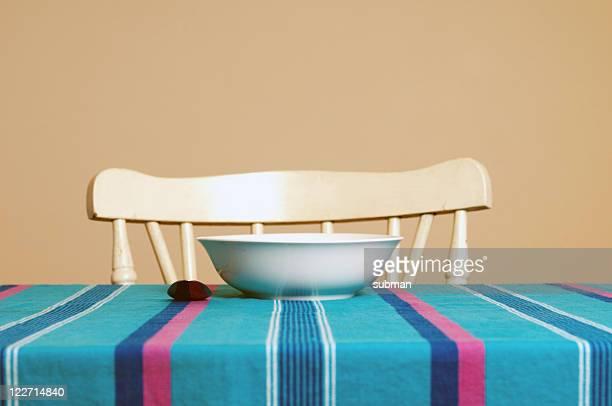 Empty breakfast setting
