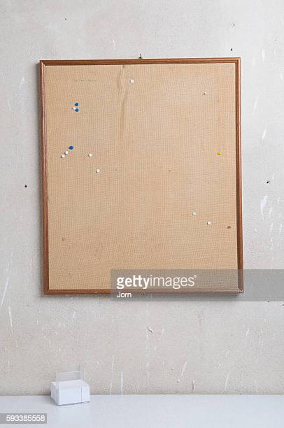 Empty bulletin board