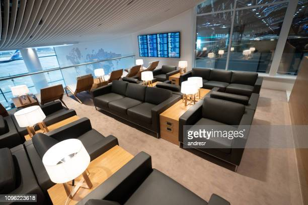Empty business lounge at the airport