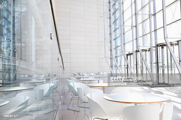Empty cafe in modern office building