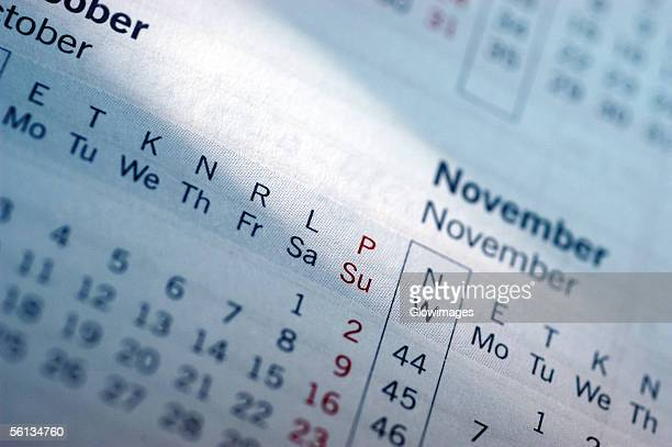 empty calendar, close-up - time management stock photos and pictures