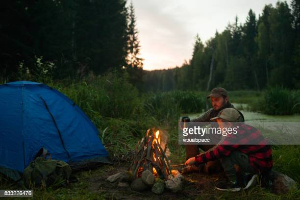 empty camping site - wilderness stock photos and pictures