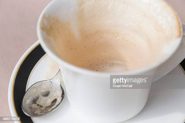 Empty cappuccino cup