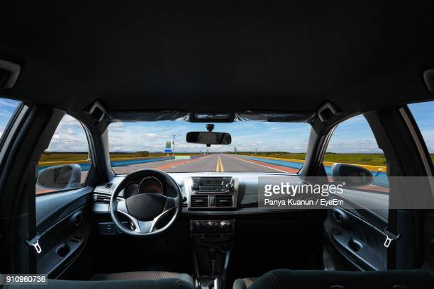 empty car on road - dashboard stock pictures, royalty-free photos & images