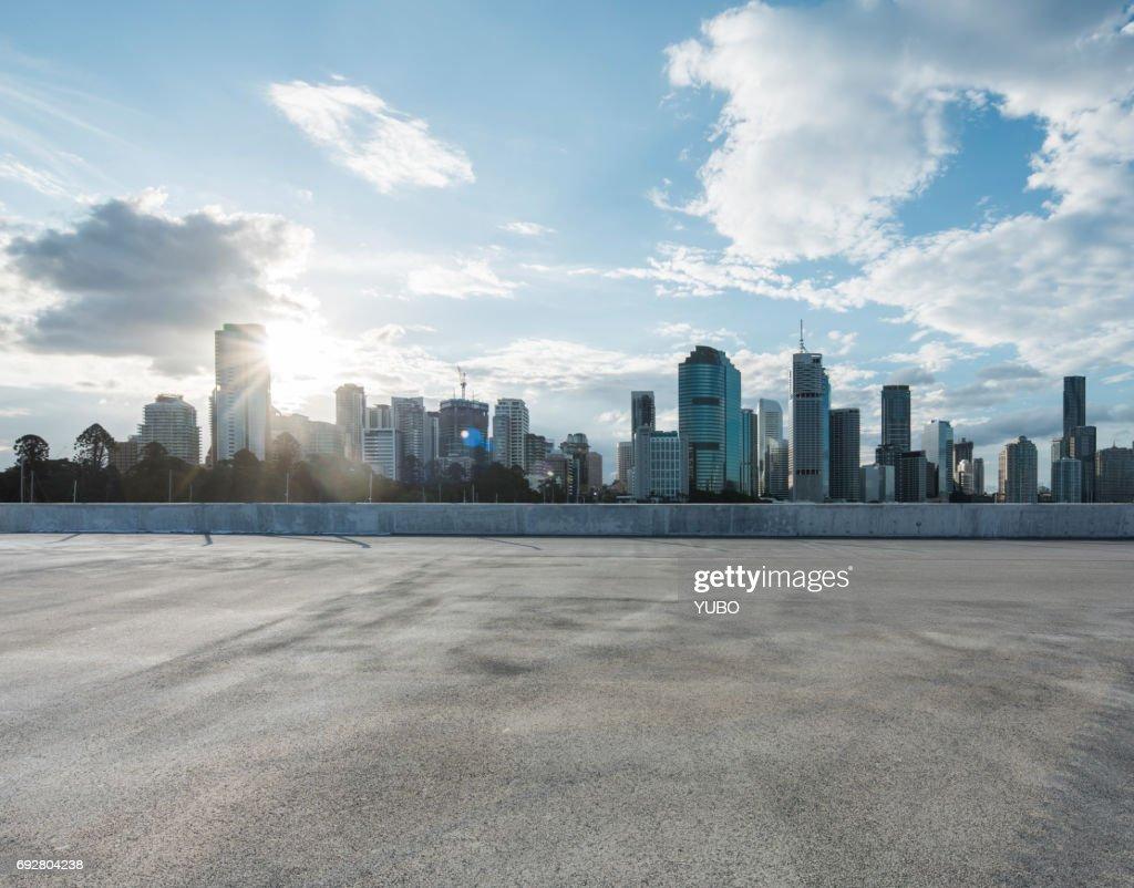 Empty car park : Stock Photo