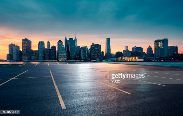 empty car park,nyc - car park stock pictures, royalty-free photos & images