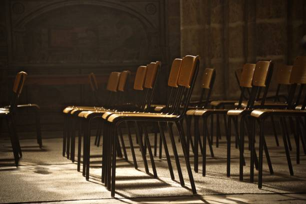 Empty Chairs In Room Church