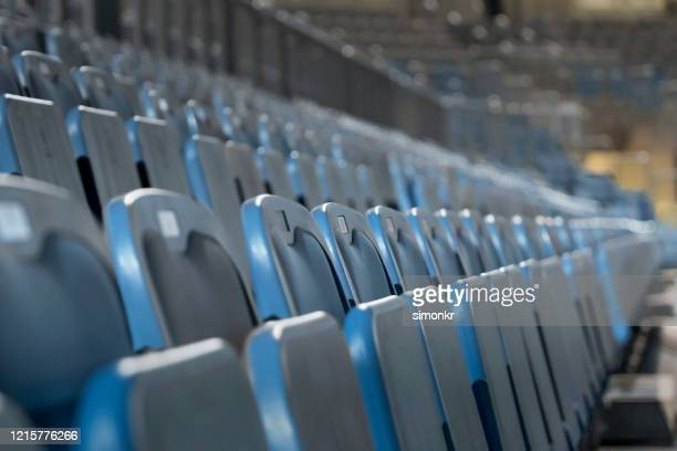 empty chairs in stadium - nba stock pictures, royalty-free photos & images