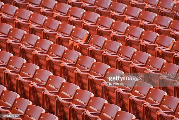 empty chairs - jay pritzker pavillion stock photos and pictures