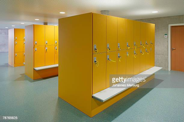 Empty changing room