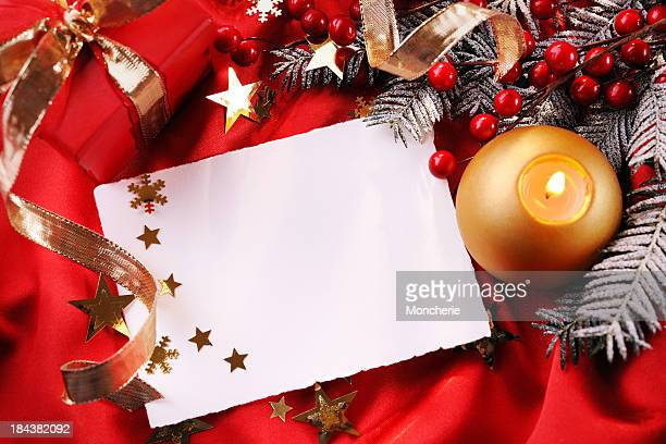 Empty christmas card with decoration