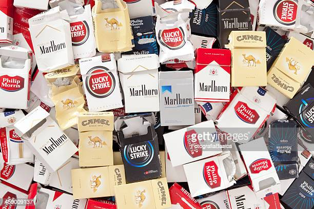 Empty cigarette packs