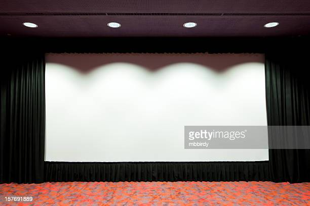 Empty cinema projection screen