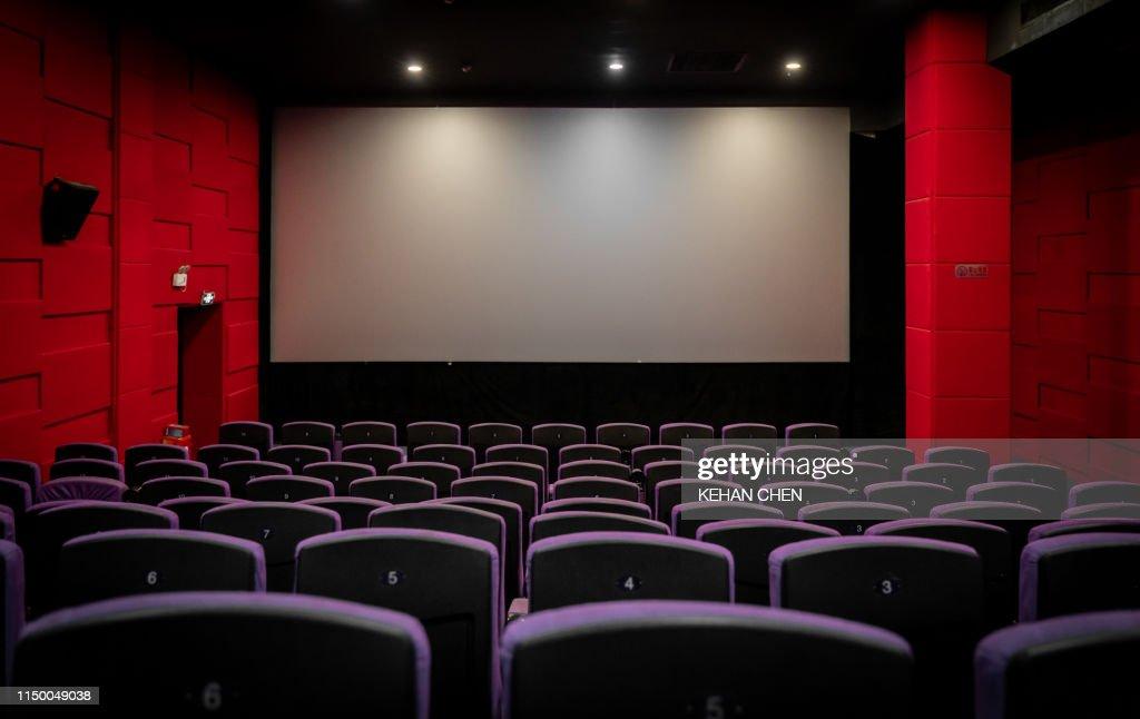 Empty Cinema with Empty seats : ストックフォト