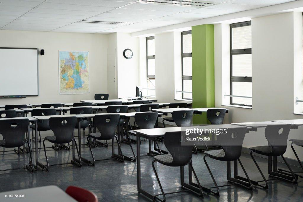 Empty classroom at school : Stock Photo