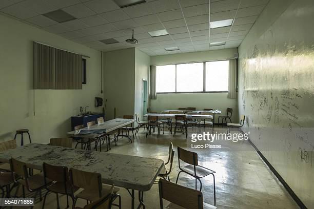 Empty classroom in Mexico City