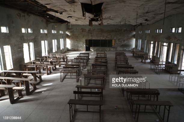Empty classroom of the Government Science College where gunmen kidnapped dozens of students and staffs, in Kagara, Rafi Local Government Niger State,...