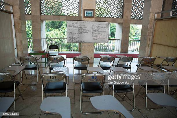 Empty classroom of the Islamic School at the Istiqlal Mosque also called Masjid Istiqlal on November 03 in Jakarta Indonesia The Istiqlal Mosque is...