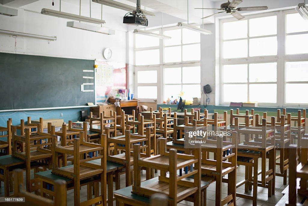 Empty classroom : Stock Photo