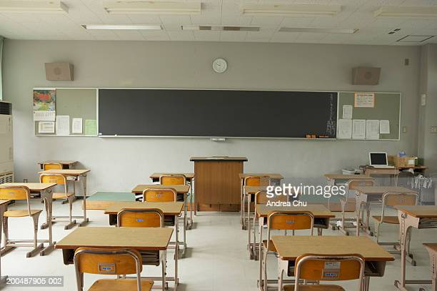 empty classroom - niemand stock-fotos und bilder