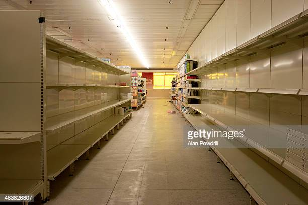 Empty closed supermarket in credit crunch