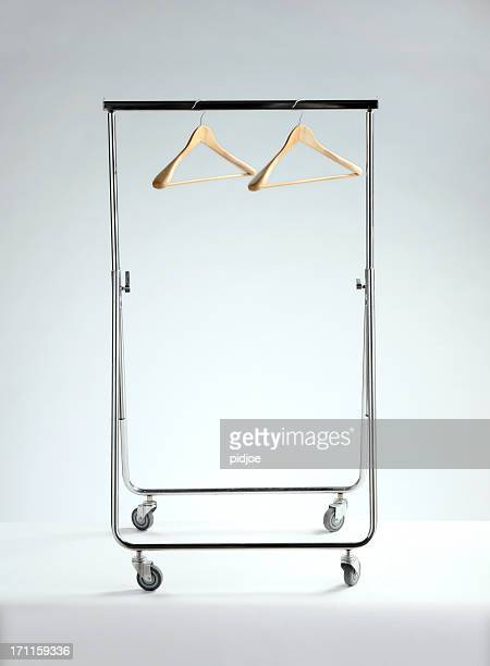 empty clothes rack, economic depression - rack stock pictures, royalty-free photos & images