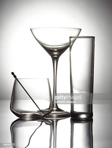 Empty Cocktail Glasses