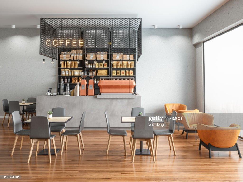 Empty Coffee shop : Stock Photo