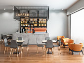 Empty Coffee shop