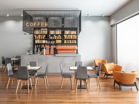 Empty Coffee shop 1154756901