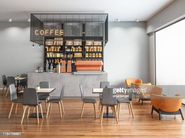 empty coffee shop - indoors stock pictures, royalty-free photos & images