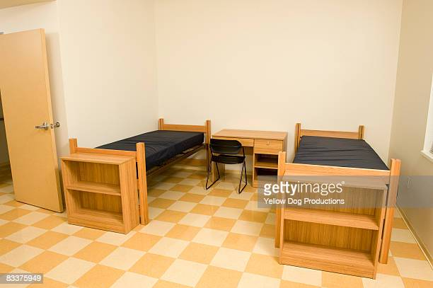 Empty college dorm room