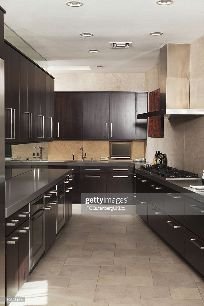 Empty Commercial Kitchen : Stock Photo
