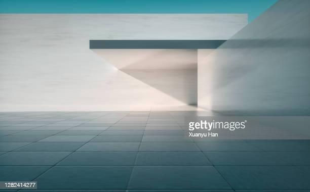 empty concrete building background - architektur stock-fotos und bilder