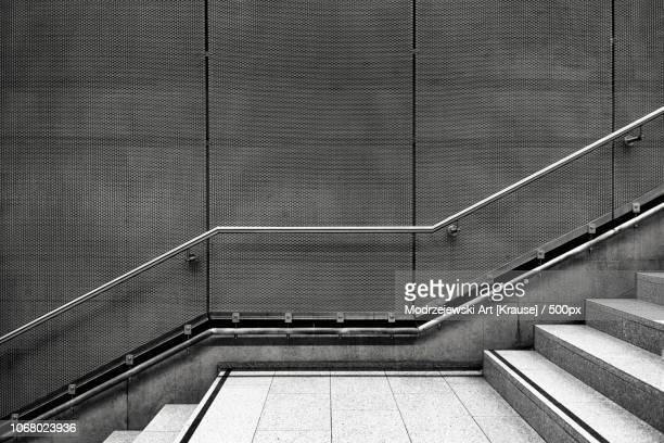 empty concrete staircase, ruhrgebiet, germany - railings stock photos and pictures