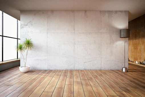Empty Concrete Wall 990278494
