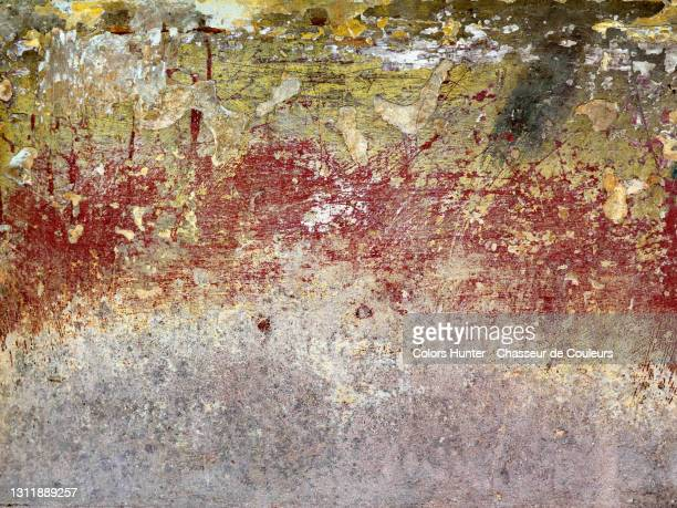 empty concrete wall with scratched paints and texture in havana - cuba stock pictures, royalty-free photos & images