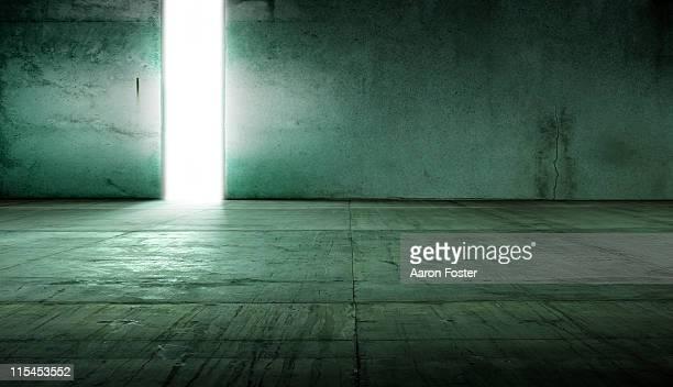 Empty Concrete Warehouse Room