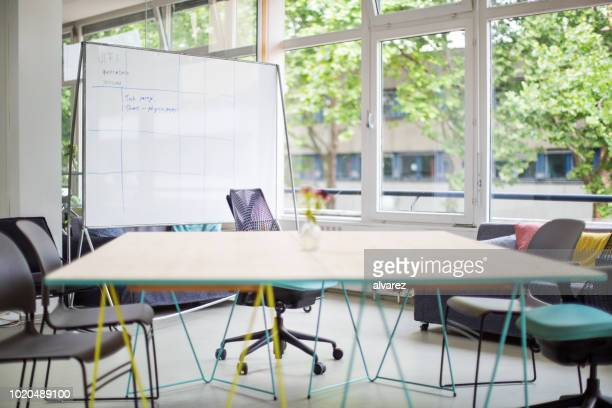 empty conference room in new office - empty desk stock pictures, royalty-free photos & images