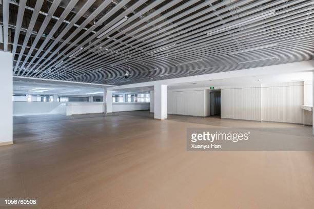empty contemporary interior background - showroom stock pictures, royalty-free photos & images
