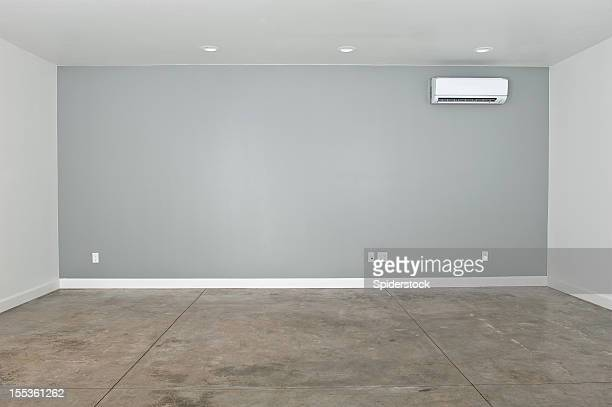 empty converted garage - wainscoting stock photos and pictures