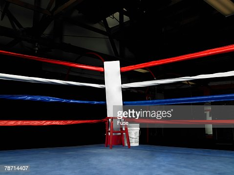 empty corner of boxing ring stock photo getty images