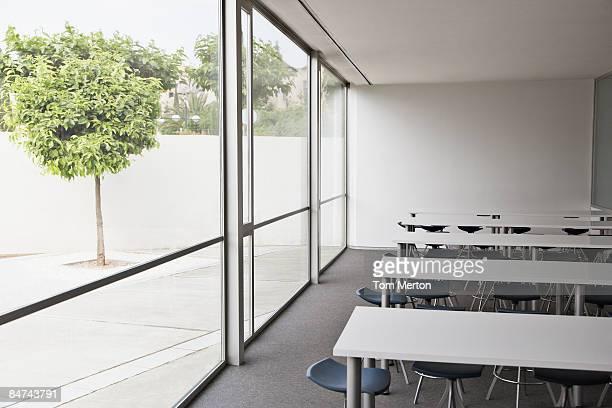 Empty corporate training room