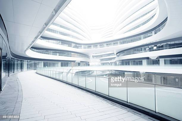empty corridor in the modern office building - help:contents stock pictures, royalty-free photos & images