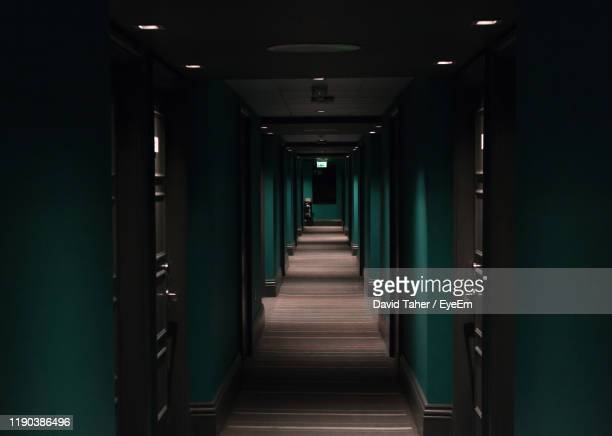 empty corridor of building - horror stock pictures, royalty-free photos & images