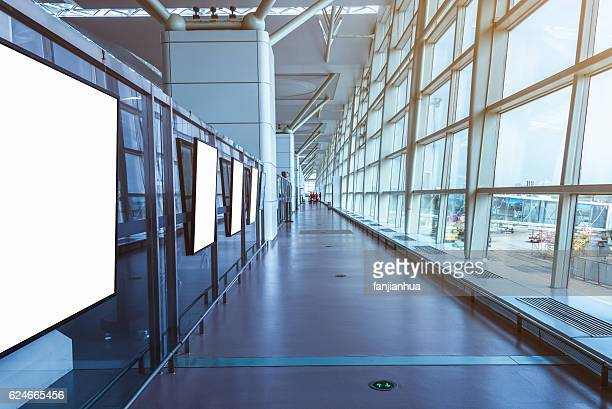 Empty Corridor Of modern airport