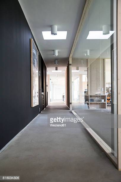 empty corridor of modern office - corridor stock photos and pictures